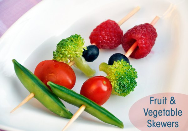 Fruit and Vegetable Skewers