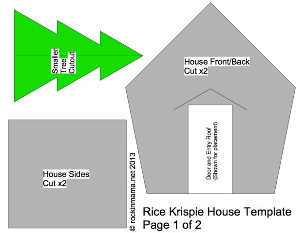 Rice Krispie Holiday House Template
