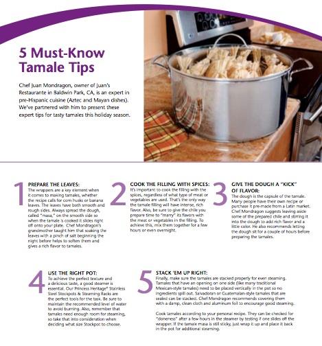 Tamal Tips