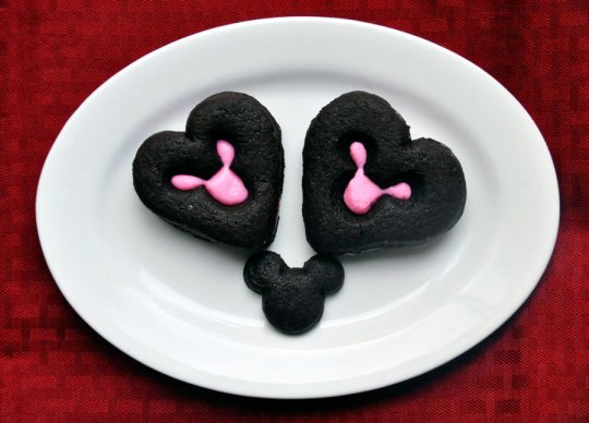 Mickey Mouse Heart Cookies