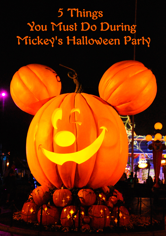5 Things To Do During Mickey's Halloween Party