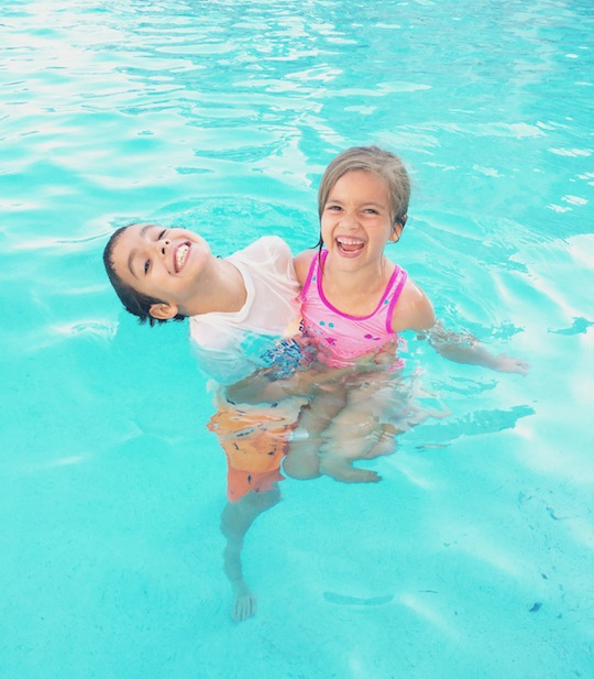 Kids in Pool - Health Habits
