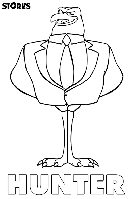 storks movie printables coloring page hunter