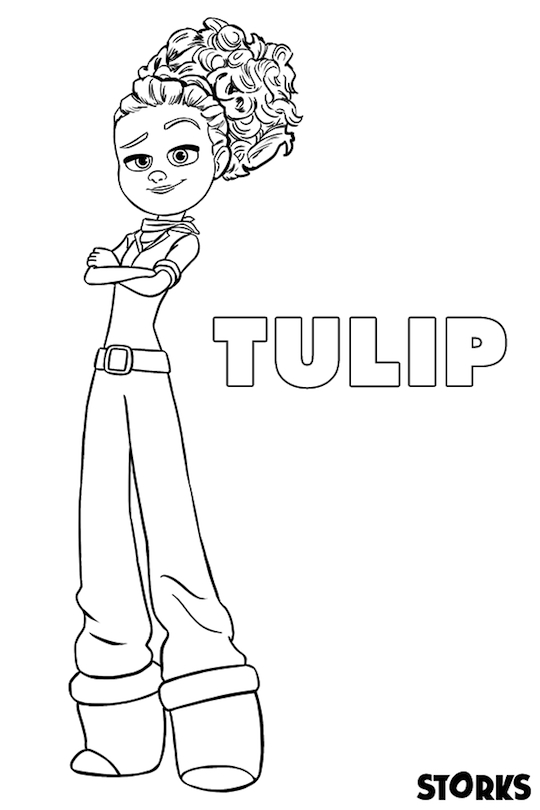 Storks Movie Printables Coloring Page Tulip