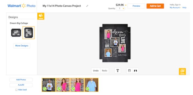 Creating Photo Canvas - Photo Gifts