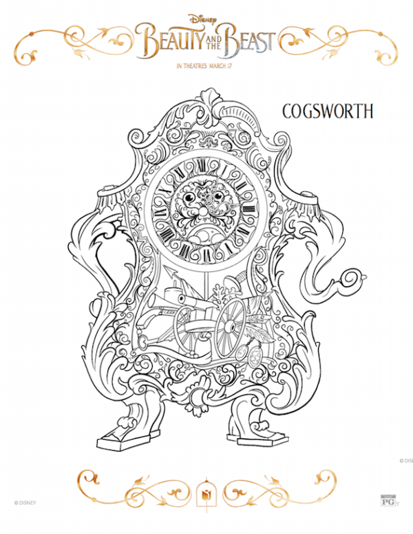 Cogsworth - Beauty and the Beast