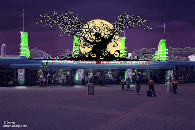 DCA Entrance Halloween