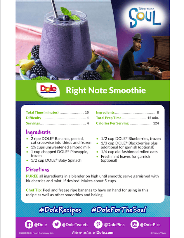 Dole Right Note Smoothie Recipe