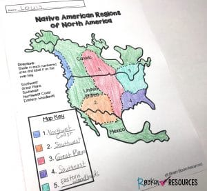 Native American Map Worksheet | www.picswe.com