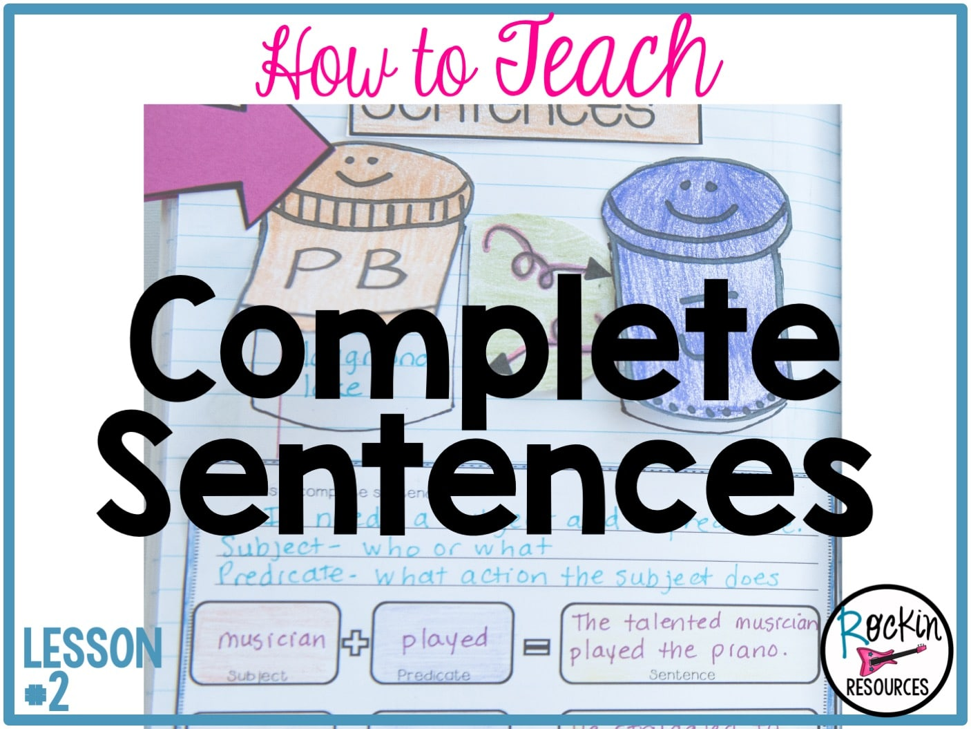 Writing Mini Lesson #2- Complete Sentences | Rockin Resources