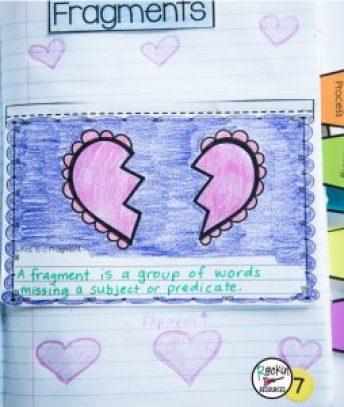Writing Mini Lesson 3 Fragments Rockin Resources