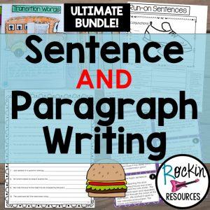 Writing Mini Lesson #2- Complete Sentences | Rockin Resources