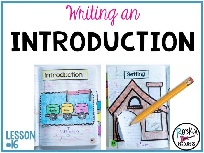 writing mini lesson writing an introduction for a narrative  what steps should you take to create a powerful introduction