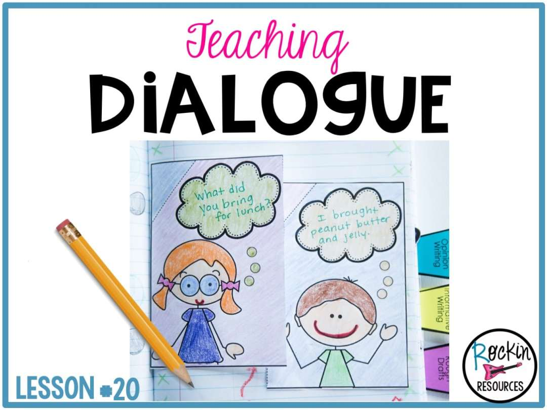 Writing Mini Lesson 20 Dialogue In A Narrative Essay Rockin