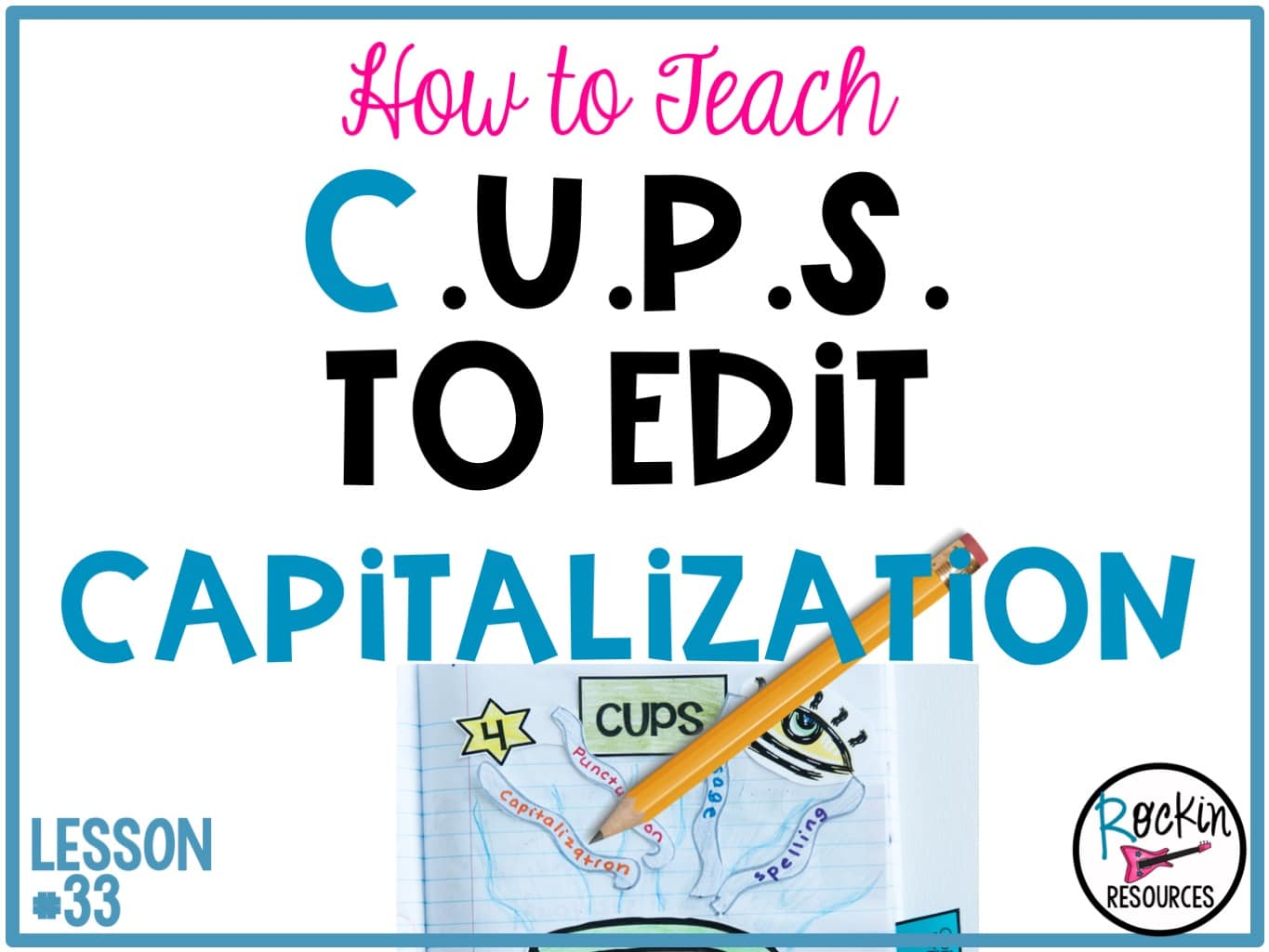 Writing mini lesson 33 on capitalization rockin resources spiritdancerdesigns Image collections