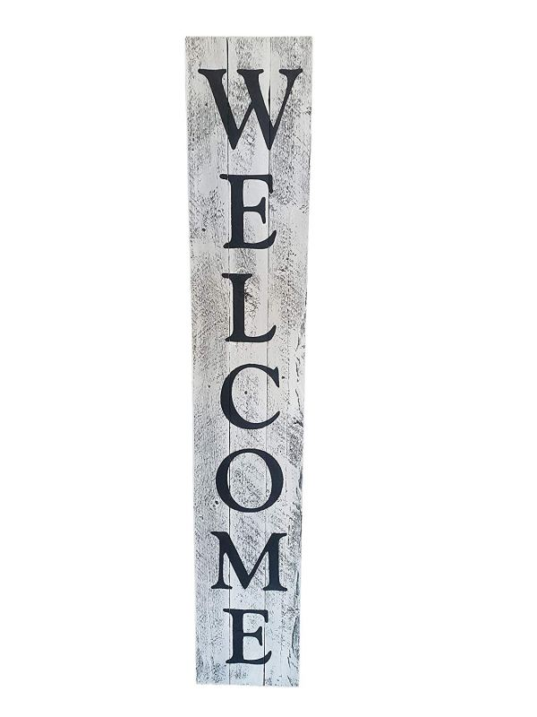 Black-white Welcome Sign