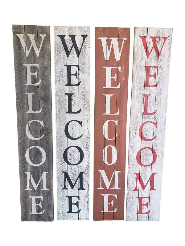 All Colors Welcome Sign
