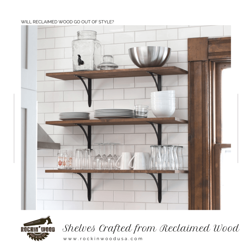 shelves crafted from reclaimed wood