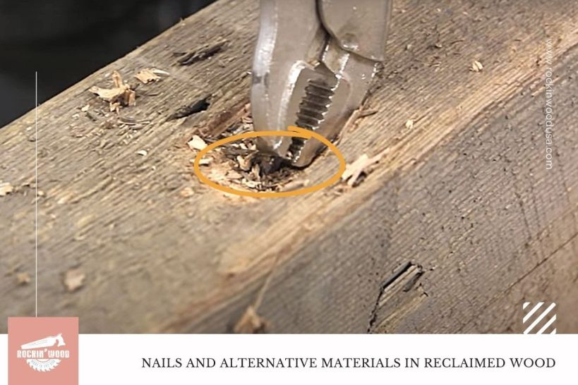 Nails and Alternative Materials in reclaimed wood