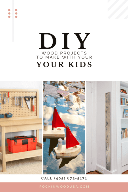DIY WOOD PROJECTS TO MAKE WITH YOUR KIDS-Pinterest