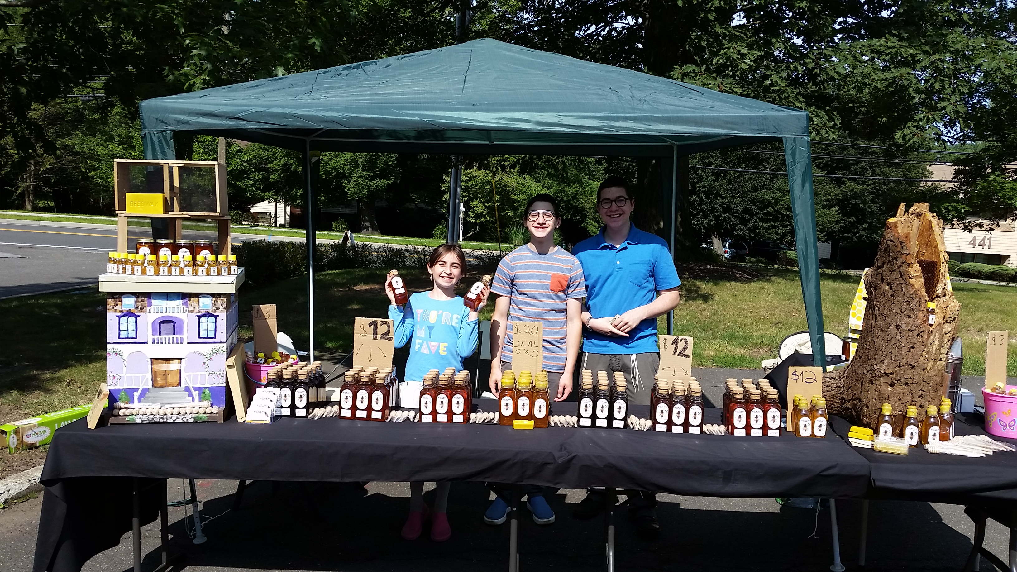 Our Honey Booth at The Village of Wesley Hills