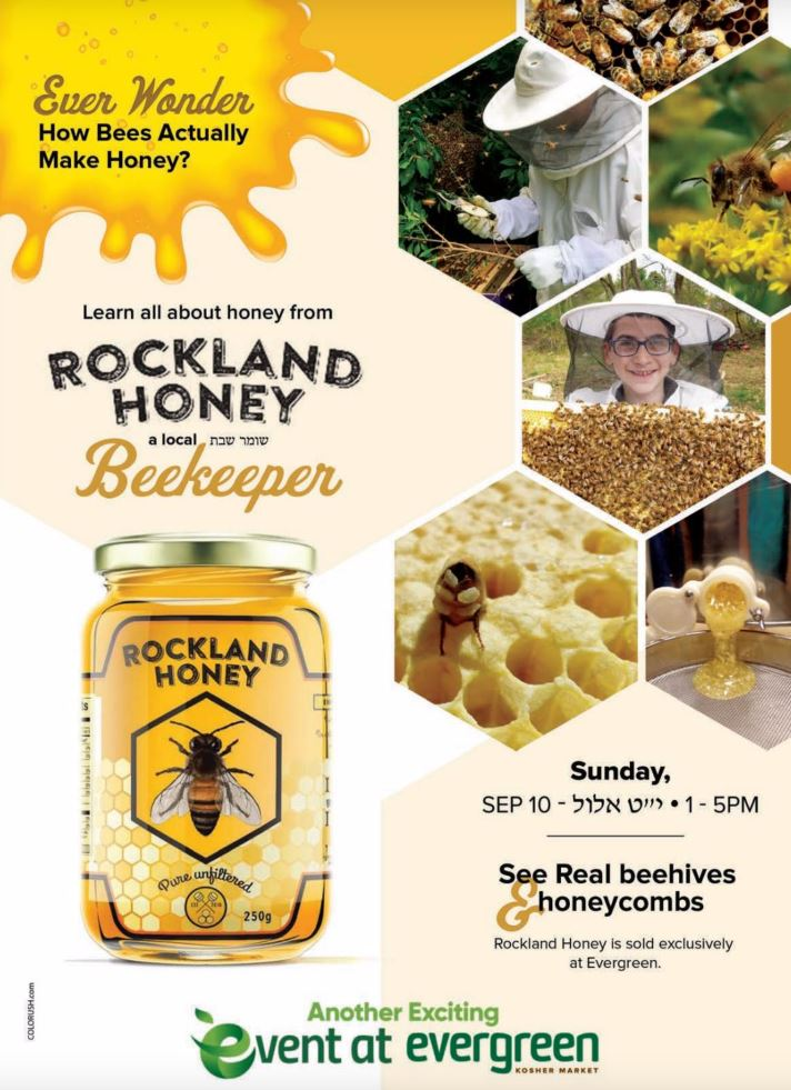 Live bees at Evergreen Supermarket This Sunday
