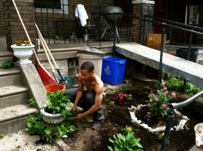 Two-time Grow This Block! participant, taking it to the next level with the garden plan this year! Photo by Inga Saffron