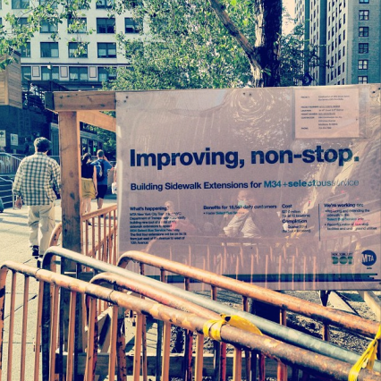 """Improving non-stop. I like how the MTA in NYC always explains the work they're doing,"" writes Emaleigh Doley on Instagram."