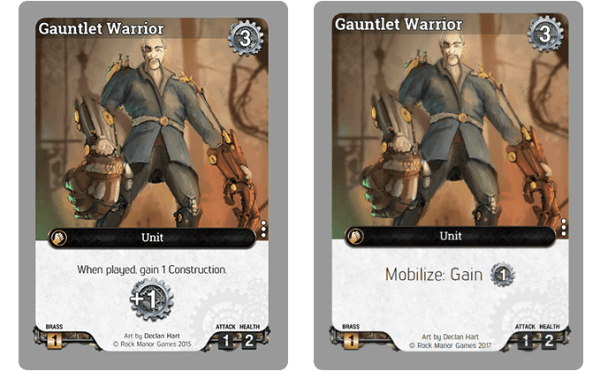 Take The Old Gauntlet Warrior Card Above There Were Always Questions Over The Way The Construction Symbol Was Shown And The Text On The Card