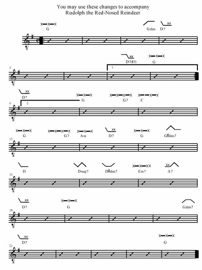 Rudolph The Red Nosed Reindeer Rockmaster Songbook