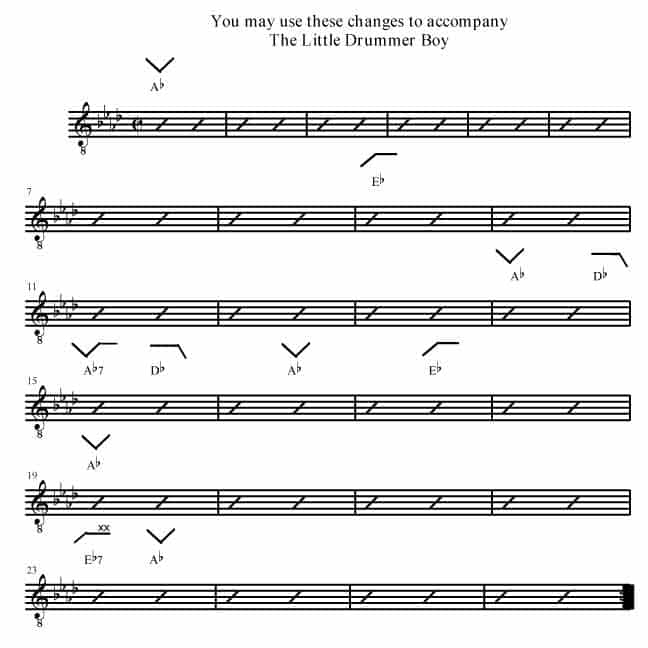 The Little Drummer Boy - Rockmaster Songbook