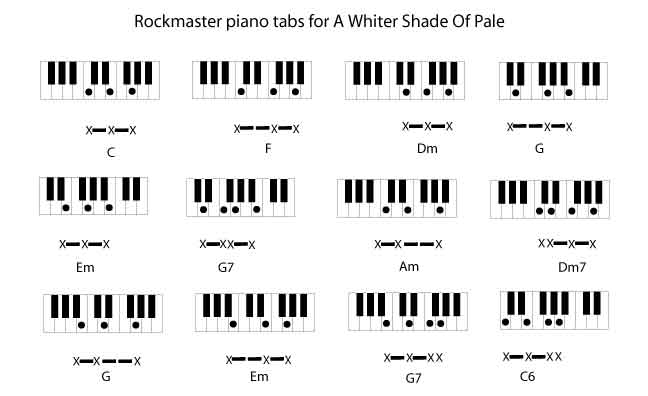 A Whiter Shade Of Pale By Procol Harum Rockmaster Songbook