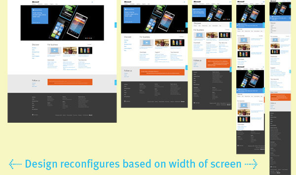 Microsoft Embracing Responsive Web Design