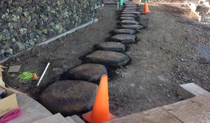 How to stepping stones for Lava rock pavers