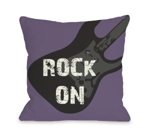 Rock+on+Guitar+Throw+Pillow