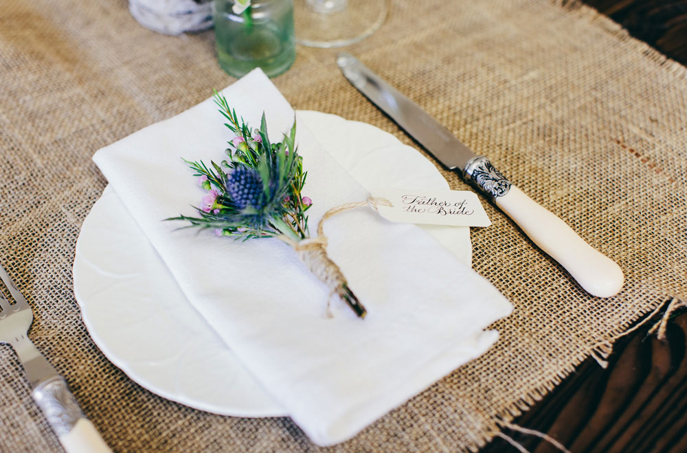 How To Create A Rustic Seasonal Wedding Buttonhole Using
