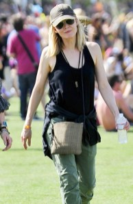 Michelle Pfeiffer and a friend wander around at Coachella **USA ONLY**