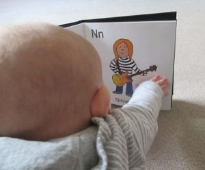Baby, brushing up on his knowledge
