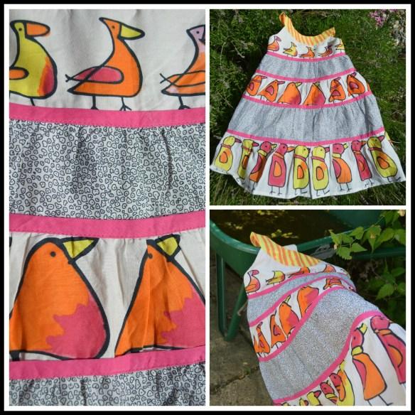 Harriet Simons George All Over Bird Print Cotton Dress 2