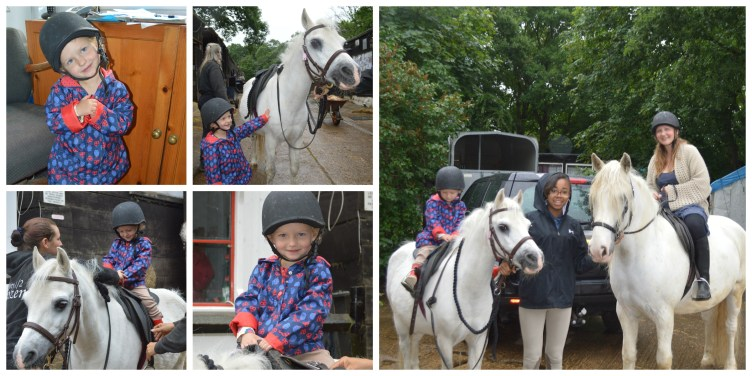 Florence's first proper riding lesson!