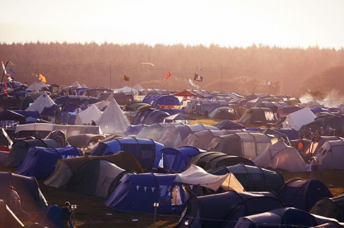Camp Bestival! Look at all those tents!