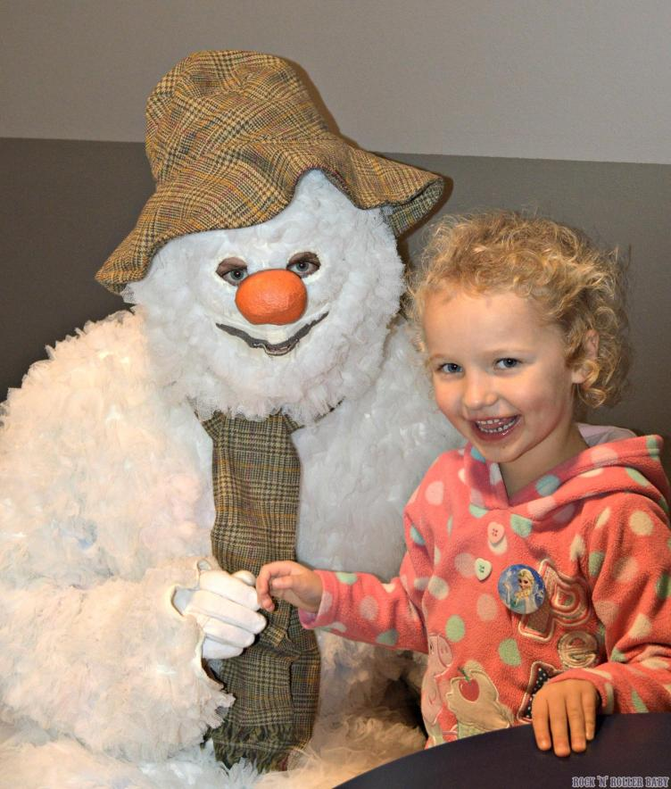 Florence meeting The Snowman pre show!