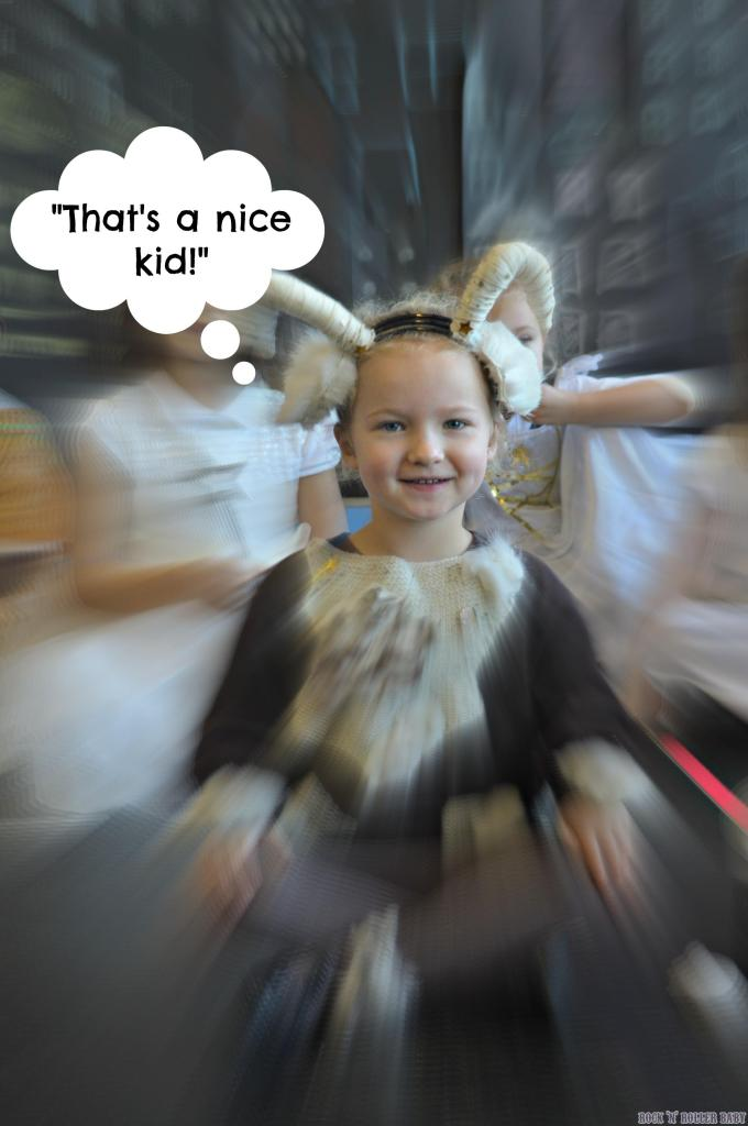 Florence playing a goat in her school Christmas play!