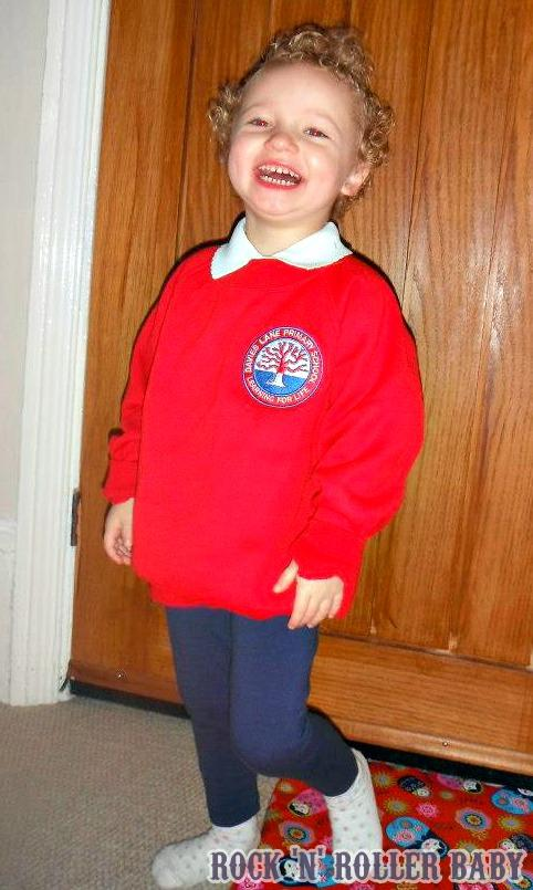 Just a little throw back... This was Florence on HER first day at nursery!