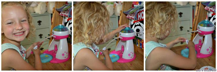 Florence can do everything from start to finish on her own which makes this a great little toy for her!