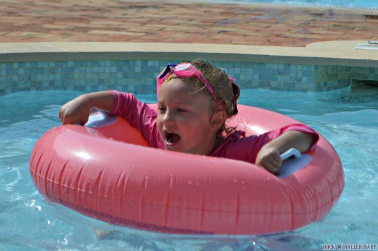 Little miss swim-athon!