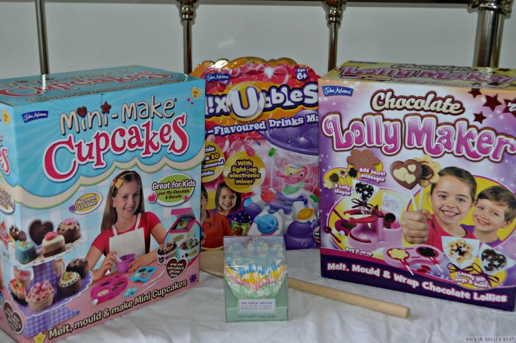 The John Adams Mini Make Cupcakes, Mixubbles and chocolate lolly maker kits!