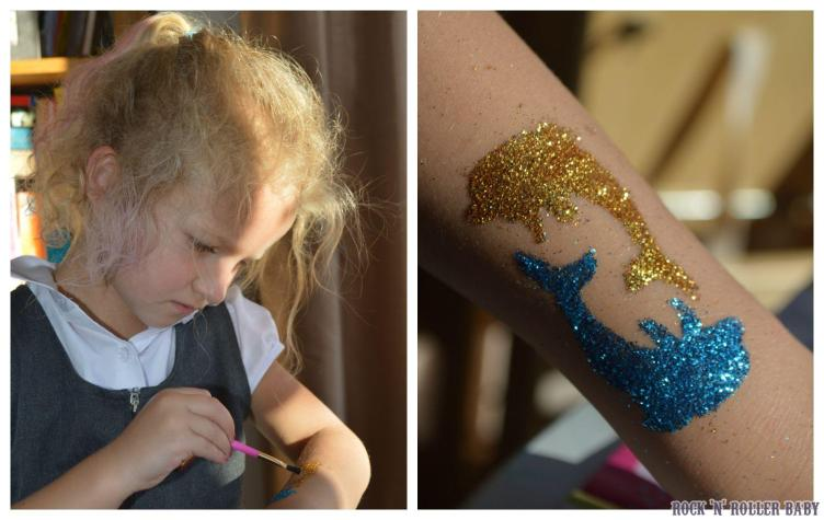 And of course, we already knew that we love the glitter tattoos!