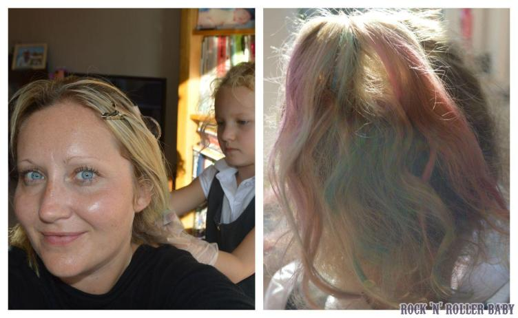 Hair chalking! Florence enjoyed putting them in my hair more than having them in her own! This is something she can do easily and she had great fun!