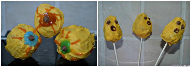 Spooky cake pops!
